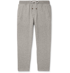Brunello Cucinelli Tapered Mélange Cashmere Sweatpants