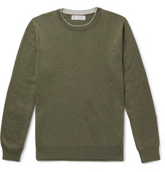Brunello Cucinelli - Contrast-Tipped Cashmere Sweater