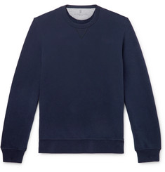 Brunello Cucinelli - Fleece-Back Stretch-Cotton Jersey Sweatshirt