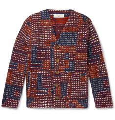 Séfr Gote Patchwork Open-Knit Cardigan