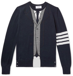 Thom Browne Striped Intarsia Wool Sweater