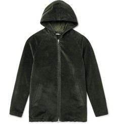 Massimo Alba Cotton-Velvet Hooded Coat