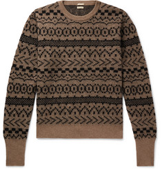 Massimo Alba - Cashmere, Mohair and Silk-Blend Jacquard Sweater