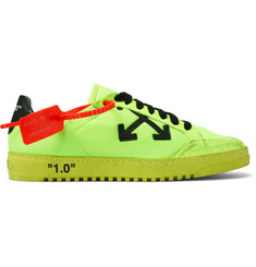 Off-White 2.0 Distressed Suede-Trimmed Mesh Sneakers