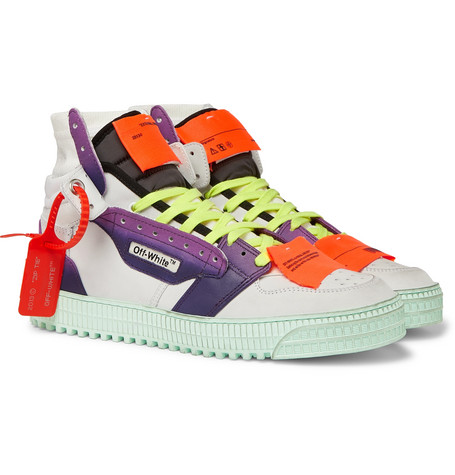 Off-White Off Court 3.0 Leather And Canvas High-Top Sneakers In White