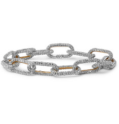 AMBUSH® Sterling Silver and Crystal Bracelet