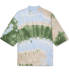 Sasquatchfabrix. Tie-Dyed Cotton-Jersey Mock-Neck T-Shirt