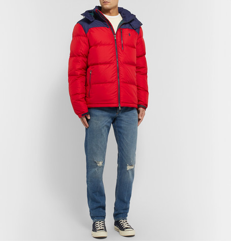 Polo Ralph Lauren Jackets COLOUR-BLOCK QUILTED SHELL HOODED DOWN JACKET