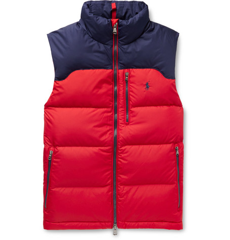 Polo Ralph Lauren Colour-Block Quilted Padded Shell Gilet