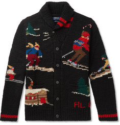 Polo Ralph Lauren Shawl-Collar Wool-Blend Jacquard Cardigan