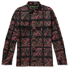 Sasquatchfabrix. Crochet-Trimmed Printed Wool Shirt
