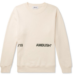 AMBUSH® Printed Loopback Cotton-Jersey Sweatshirt