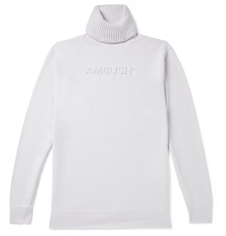 AMBUSH® Slim-Fit Logo-Embossed Wool-Blend Rollneck Sweater