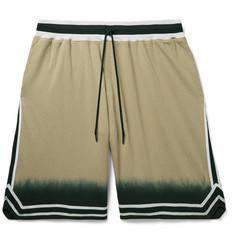 John Elliott Game Webbing-Trimmed Dip-Dyed Mesh Drawstring Shorts