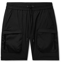 John Elliott Canvas-Trimmed Nylon Drawstring Cargo Shorts