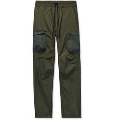John Elliott Himalayan Tapered Canvas-Trimmed Nylon Drawstring Cargo Trousers