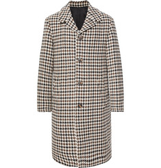 AMI Houndstooth Wool-Blend Overcoat