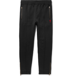 AMI Slim-Fit Tapered Logo-Appliquéd Jersey Sweatpants
