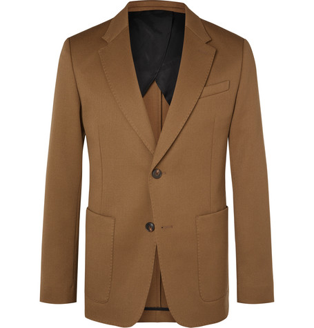 AMI Camel Virgin Wool Blazer