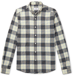 AMI Button-Down Collar Checked Cotton-Flannel Shirt