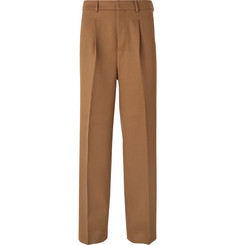 AMI Wide-Leg Pleated Virgin Wool Trousers
