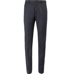 AMI Grey Slim-Fit Virgin Wool-Twill Trousers