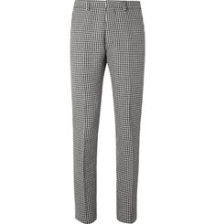 AMI Slim-Fit Houndstooth Virgin Wool-Blend Trousers