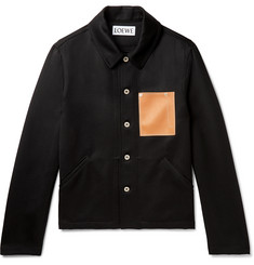 Loewe Leather-Trimmed Wool Overshirt