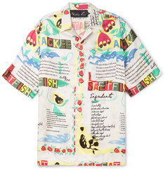 Martine Rose Camp-Collar Printed Voile Shirt