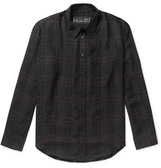 Martine Rose Checked Satin Shirt