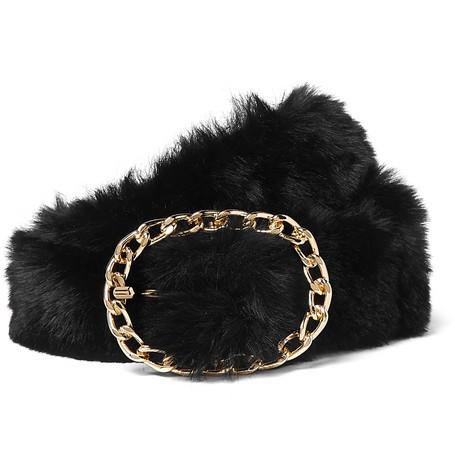 666c1fac3664 Martine Rose - 4cm Faux Fur Belt