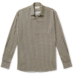 Striped Voile Shirt - Black