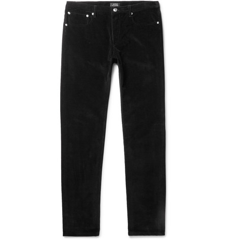 petit-standard-slim-fit-cotton-corduroy-jeans by apc