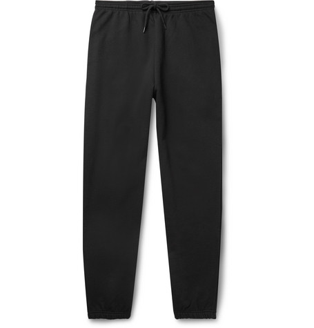 A.P.C. Adam Slim-Fit Tapered Logo-Print Loopback Cotton-Jersey Sweatpants