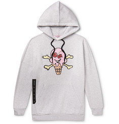 Palm Angels + ICECREAM Oversized Printed Loopback Cotton-Jersey Hoodie