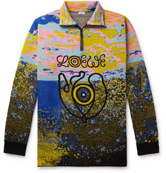 Eye/Loewe/Nature Intarsia Stretch Wool Blend Half Zip Sweater by Loewe