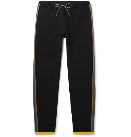 Loewe Eye/LOEWE/Nature Tapered Logo-Appliquéd Fleece-Back Cotton-Jersey Sweatpants