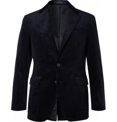 Polo Ralph Lauren Navy Slim-Fit Pima Cotton-Corduroy Blazer