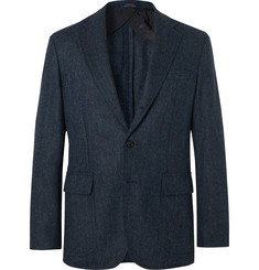 Polo Ralph Lauren Navy Herringbone Wool Blazer