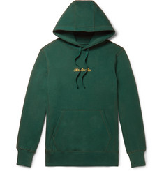 Aimé Leon Dore Logo-Embroidered Loopback Cotton-Jersey Hoodie