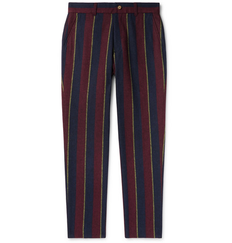 Aimé Leon Dore Tapered Striped Woven Trousers