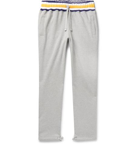 AimÉ Leon Dore MÉLange Loopback Cotton-Jersey Sweatpants In Gray