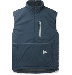 And Wander Padded Polartec Alpha Shell Half-Zip Gilet