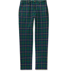 Aimé Leon Dore Slim-Fit Checked Wool-Blend Trousers