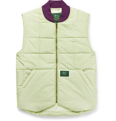 Aimé Leon Dore Logo-Appliquéd Quilted Padded Cotton-Blend Gilet