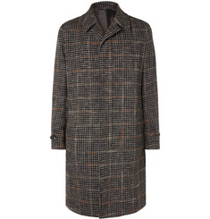 Caruso Checked Wool-Blend Coat