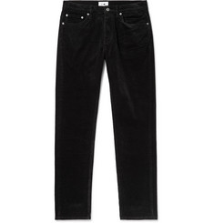 NN07 Black Wilson Slim-Fit Stretch-Cotton Corduroy Trousers