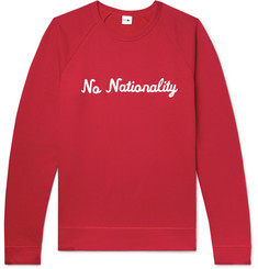 NN07 Logo-Appliquéd Fleece-Back Cotton-Jersey Sweatshirt