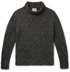 NN07 Douglas Knitted Mock-Neck Sweater
