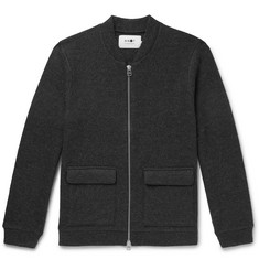 NN07 Mélange Boiled Wool-Blend Bomber Jacket